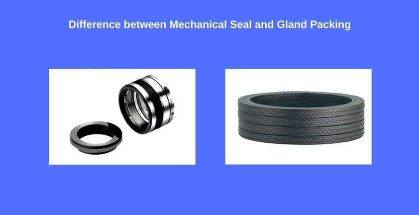 difference between mechanical seal and gland packing